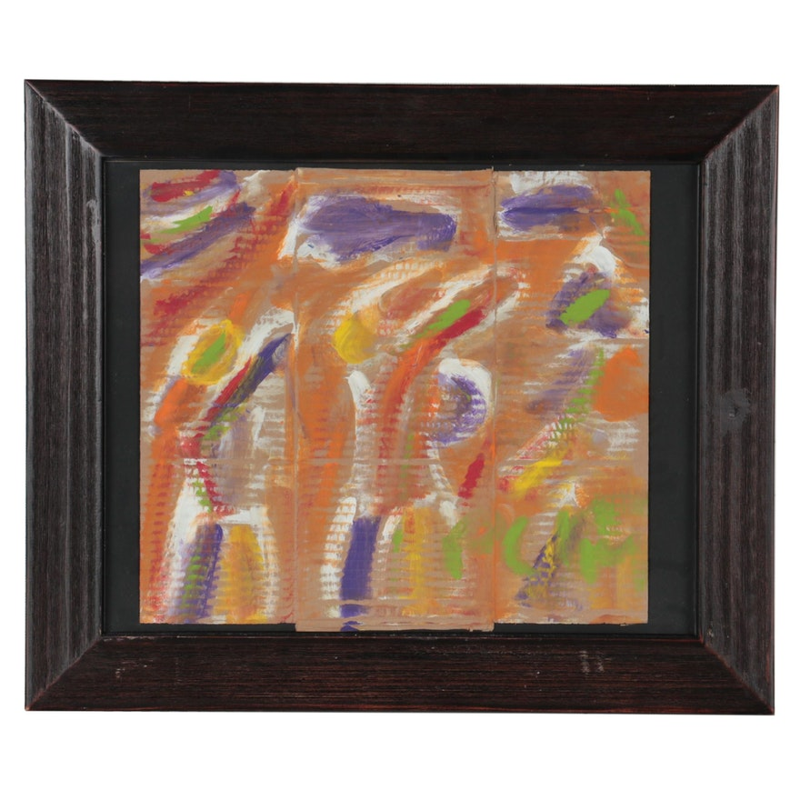 Miklós Németh Abstract Acrylic Painting