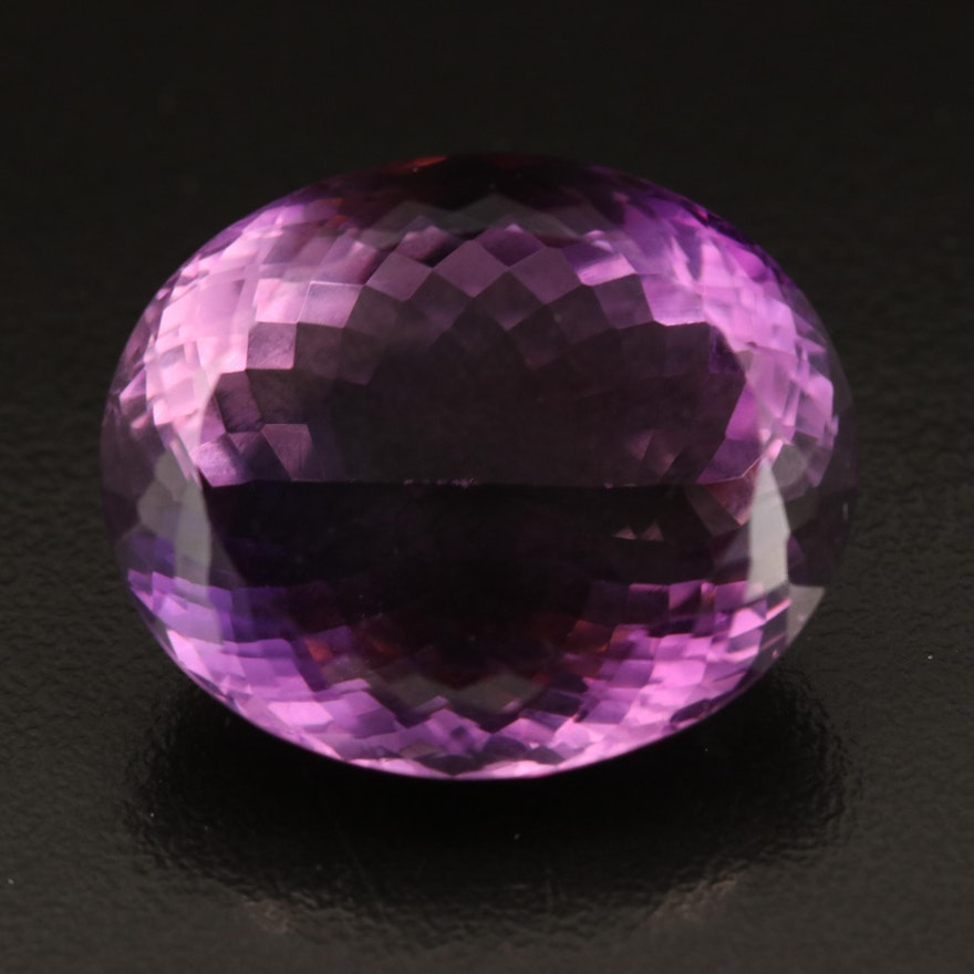 Loose 49.28 CT Oval Faceted Amethyst