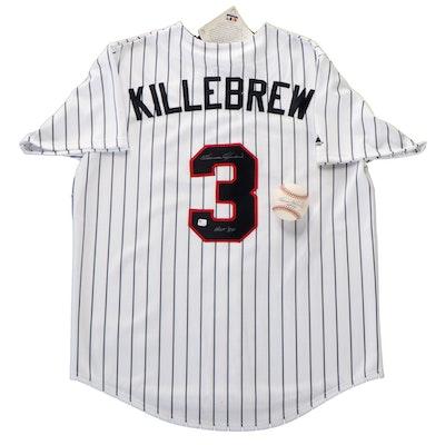 Harmon Killebrew Signed Minnesota Twins Jersey and Rawlings MLB Baseball, COA