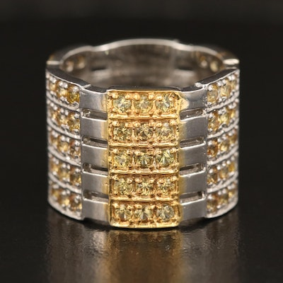 Sterling Sapphire Cigar Band