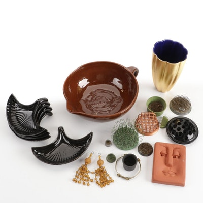 Craft Supplies Including Drill Bit Holder, Cups, and More