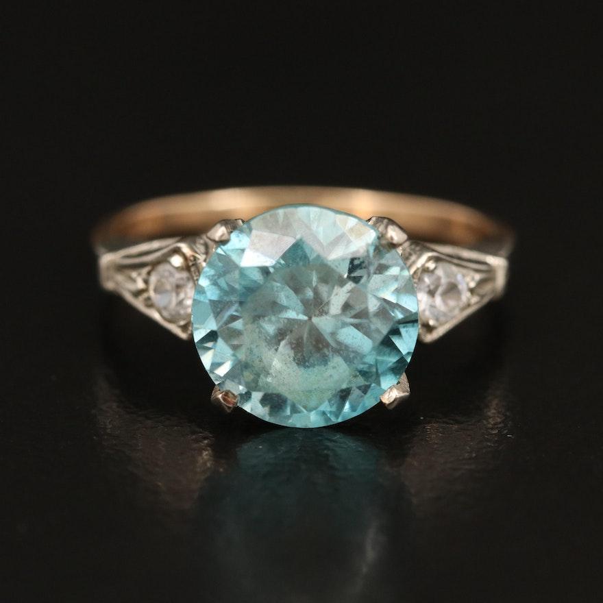 Vintage 14K Zircon Ring