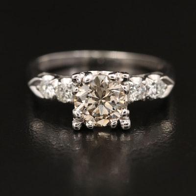 Vintage Platinum 1.27 CTW Diamond Ring