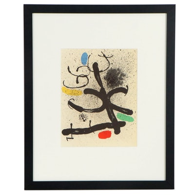 """Joan Miró Lithograph for """"Derrière le Miroir,"""" 1971"""