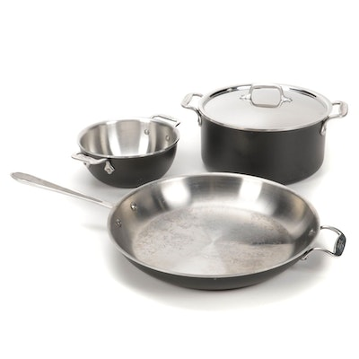 All-Clad LTD Stainless Steel Cookware 3-Piece Set