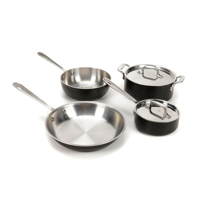 All-Clad Stainless Steel Cookware 4-Piece Set