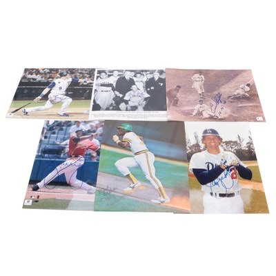 Rickey Henderson, Bob Feller, Enos Slaughter, and More Signed Photo Prints, COA