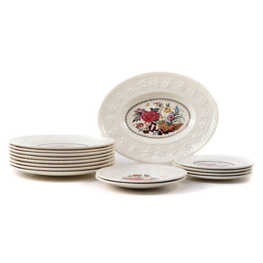 "Wedgwood ""Bullfinch Wellsley"" Porcelain Dinnerware, 1962-1981"