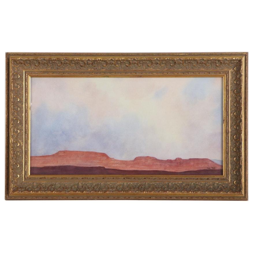 Marie Stahl Landscape Watercolor Painting of Mesa, Arizona