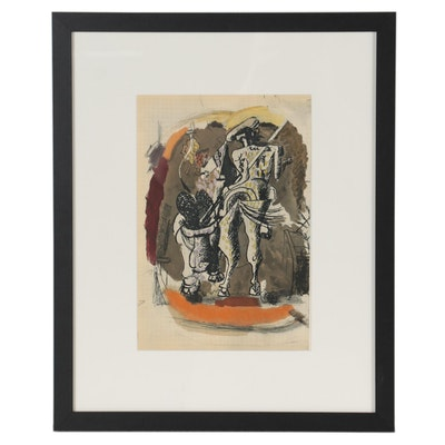 """Rotogravure after Georges Braque for """"Verve,"""" 1955"""