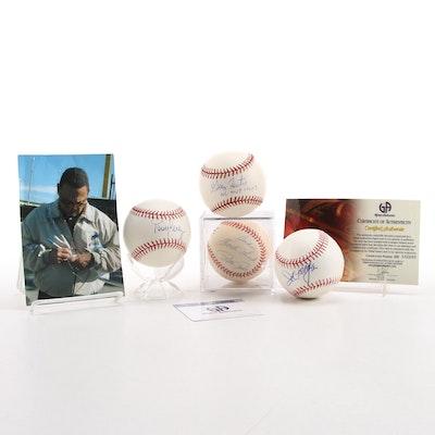 Rose, Perez, Foster and Morgan Signed Baseballs, COAs