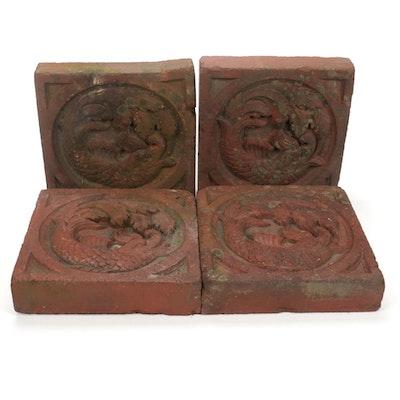 Rococo Style Dolphin Decorative Bricks