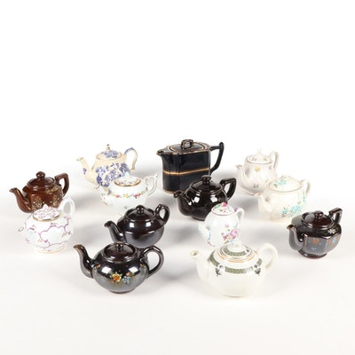 Vintage Porcelain and Ceramic Tea Pot Collection Featuring Victoria And Albert