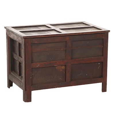 Stained Pine Paneled Chest, Early 20th Century