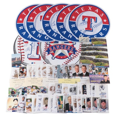 Texas Rangers Signed Cards, Ticket Stubs, and Pennants