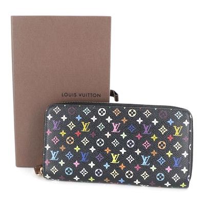 Louis Vuitton Zippy Wallet in Black Multicolore Monogram Canvas