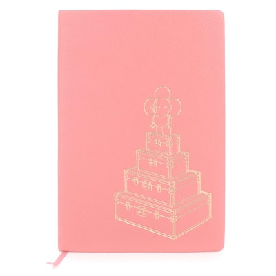 Louis Vuitton Vivienne Clemence Notebook in Coral Taurillon Leather