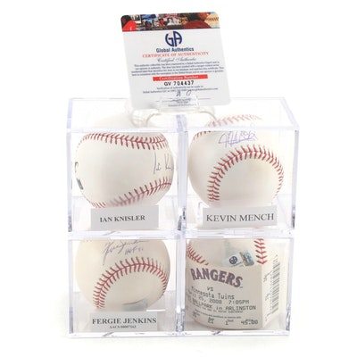 Knisler, Hamilton, Jenkins and Mench Signed Baseballs, COAs