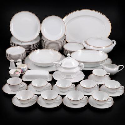 "Royalton ""Golden Elegance"" Porcelain Dinnerware with Other Ceramic Tableware"