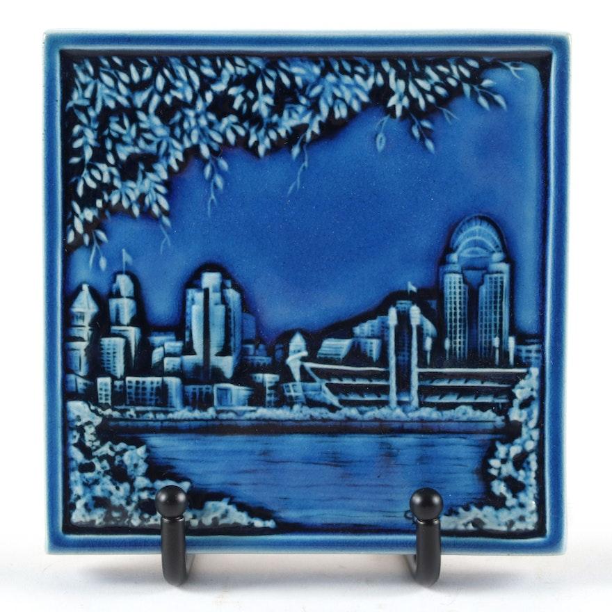Rookwood Pottery Commemorative Collection Cincinnati Skyline Tile