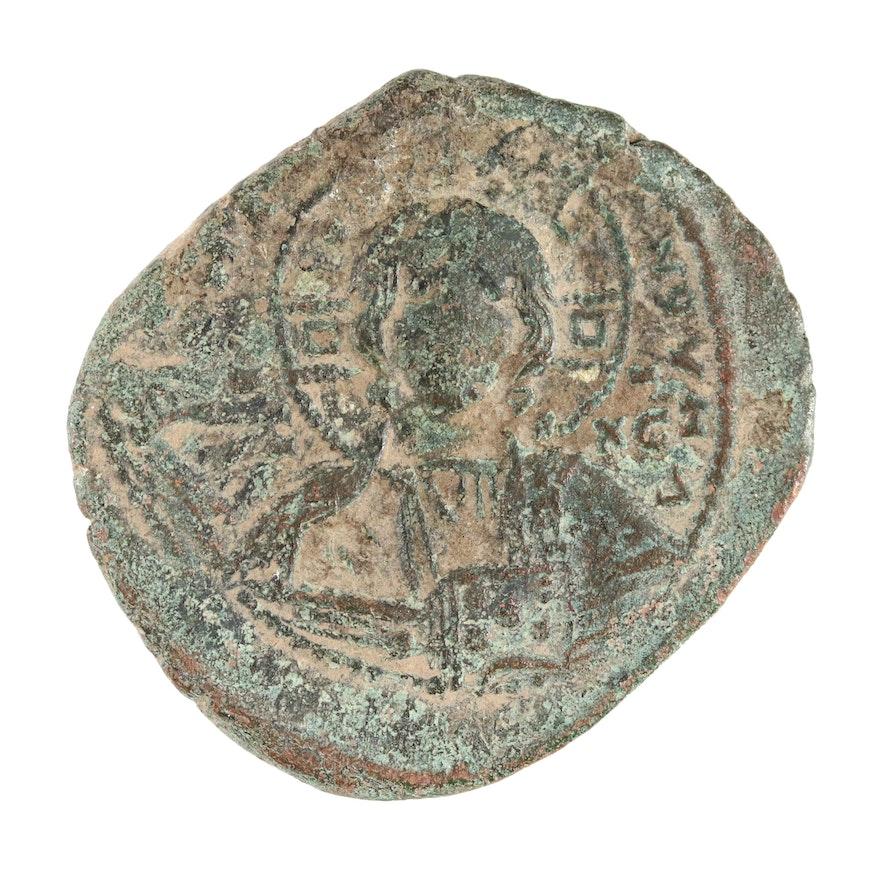 Ancient Byzantine 'Anonymous' Follis Coin, ca. 1030 AD
