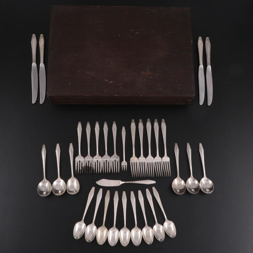 """State House """"Formality"""" Sterling Silver Flatware, Mid to Late 20th Century"""