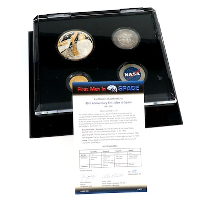 40th Anniversary First Men in Space Gold and Silver Coin Set