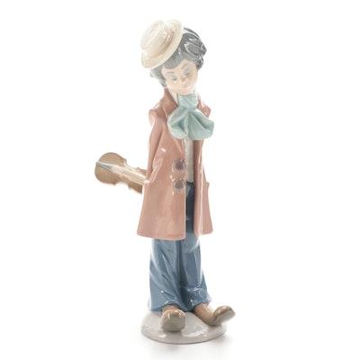 "Lladró ""Clown Standing"" Porcelain Figurine Designed by Salvador Debón"