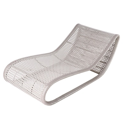 Frontgate Two-Tone Resin Wicker Patio Chaise Lounge