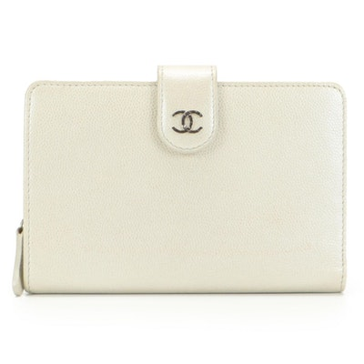 Chanel Continental Wallet in Metallic Caviar Leather