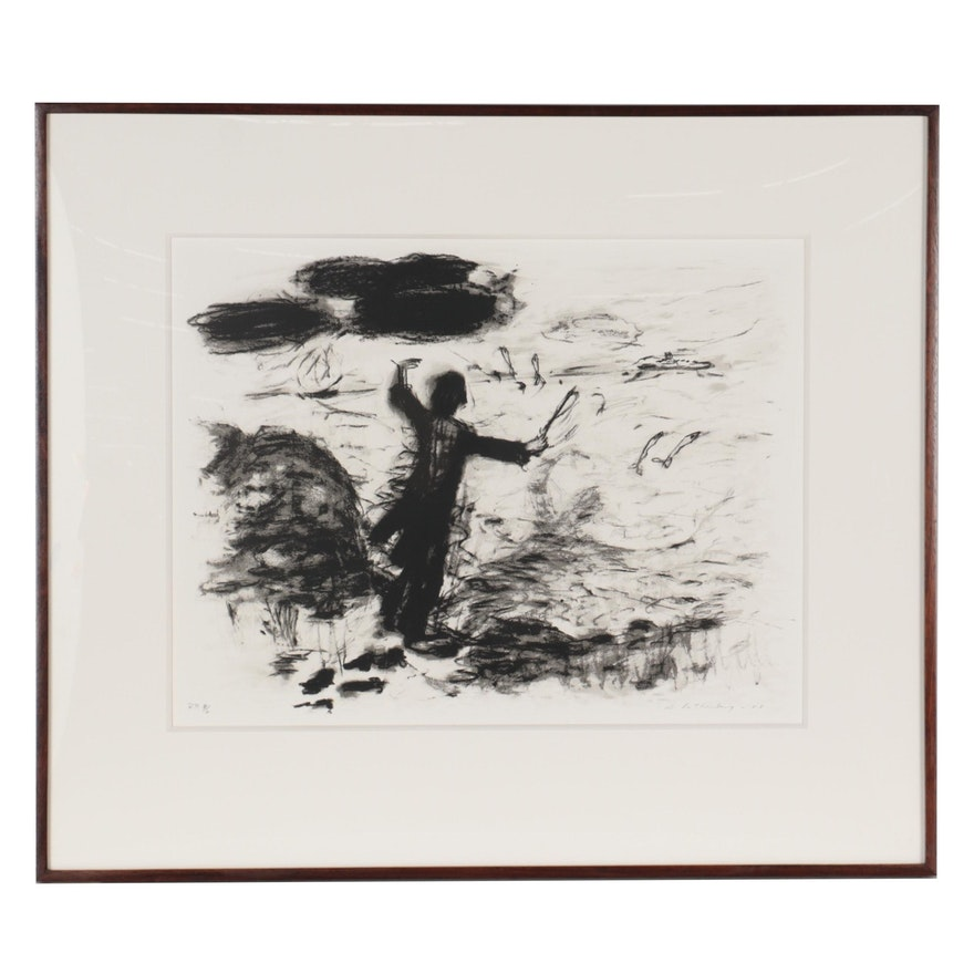 """Susan Rothenberg Serigraph """"Untitled (Conductor),"""" 1985"""