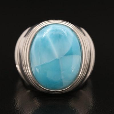 Sterling Larimar Ring