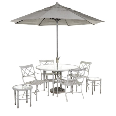 Landgrave Metal Patio Dining Table and Chairs
