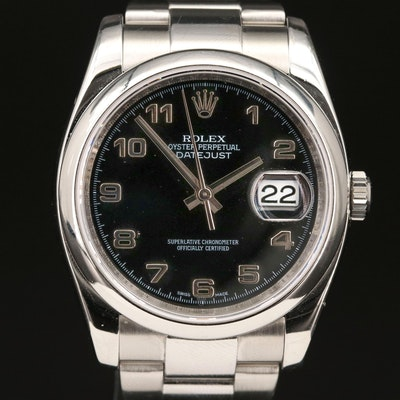 Rolex Datejust 116200 Stainless Steel Automatic Wristwatch