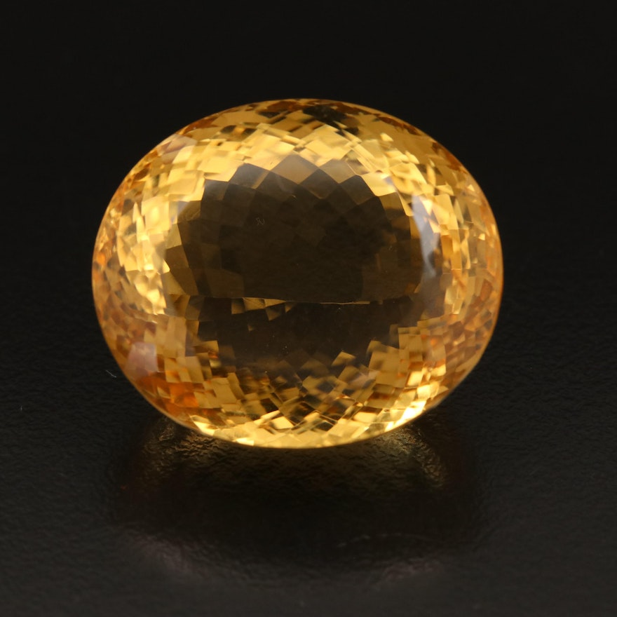 Loose 83.42 CT Oval Faceted Citrine