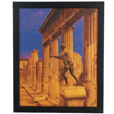 "Lawrence von Knorr Giclée ""Pompeii - Fleeing the Flames,"" 21st Century"