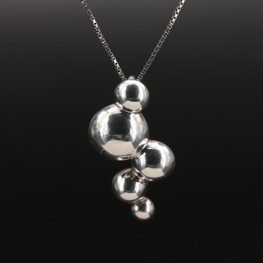 Pandora Sterling Bubbles Necklace