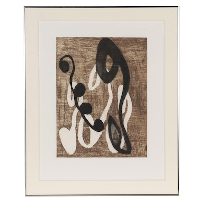 Jane Kent Abstract Etching with Aquatint, 1990