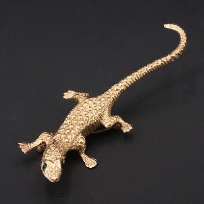 Vintage 14K Lizard Brooch