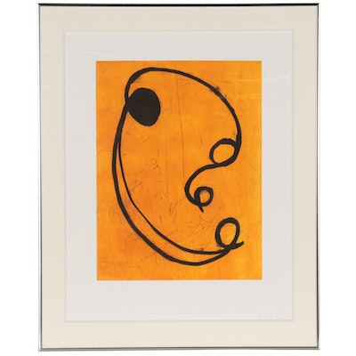 Jane Kent Abstract Etching with Aquatint, 1989