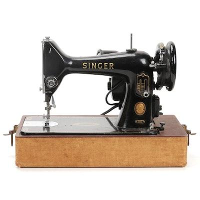 Singer Travel Sewing Machine Model 99K, 1955