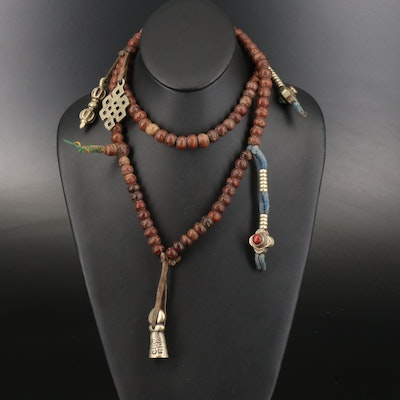 Antique Tibetan Mala with Counters