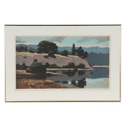 "Don Irwin Serigraph ""Marin Bay,"" Late 20th Century"