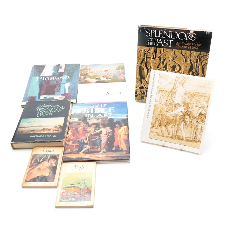 Art Reference Books on Picasso, Seurat, and More, Mid to Late 19th Century