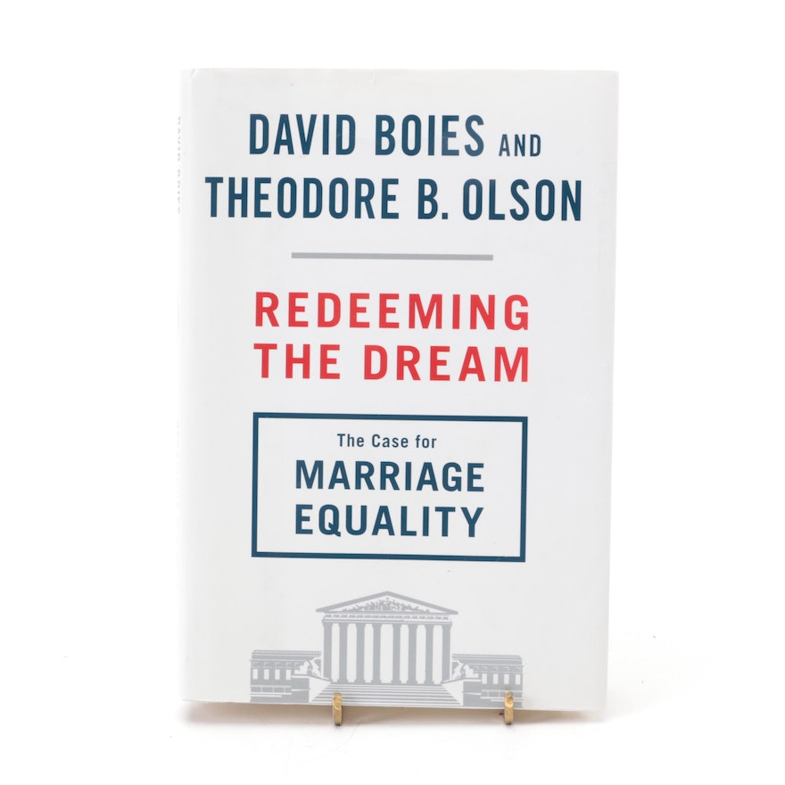 """Signed First Edition """"Redeeming the Dream"""" by David Boies, 2014"""
