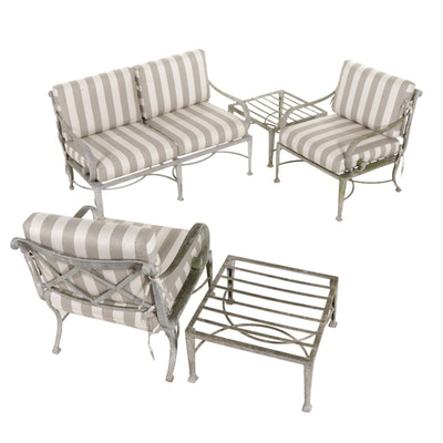 Metal Patio Furniture with Sofa and Armchairs