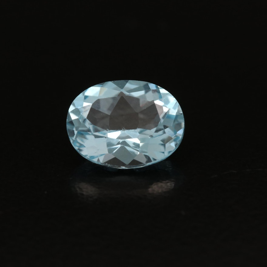 Loose 2.94 CT Oval Faceted Sky Blue Topaz