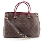 Louis Vuitton Pallas Bag in Monogram Canvas and Raisin Leather