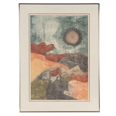"""John M. Chious Etching with Aquatint """"Perspectives,"""" Late 20th Century"""