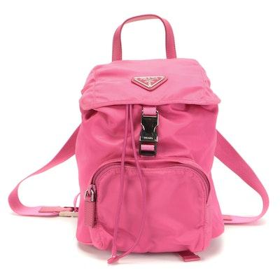 Prada Pink Tessuto Nylon Drawstring Backpack